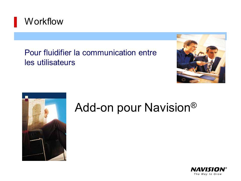 Add-on pour Navision ® Workflow Pour fluidifier la communication entre les utilisateurs