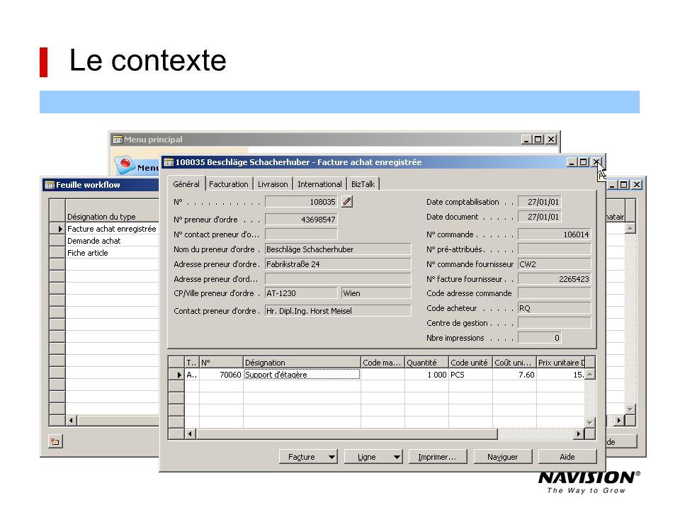 Le contexte La présence de lignes de workflow est signalée par un message à l'ouverture par l'icône enveloppe sur le bouton Workflow par une alerte en