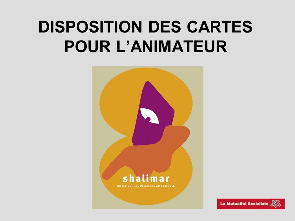 DISPOSITION DES CARTES POUR L'ANIMATEUR