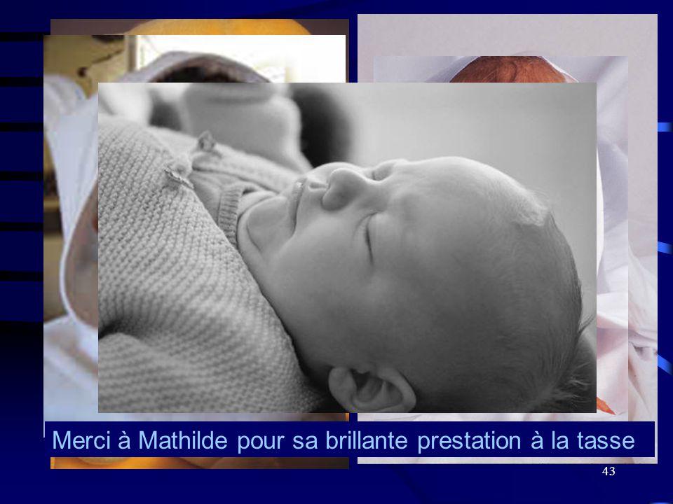 43 Merci à Mathilde pour sa brillante prestation à la tasse