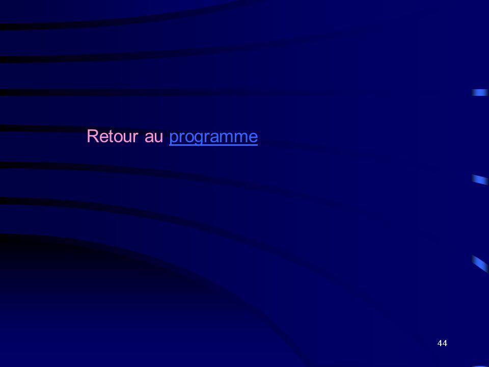 44 Retour au programmeprogramme