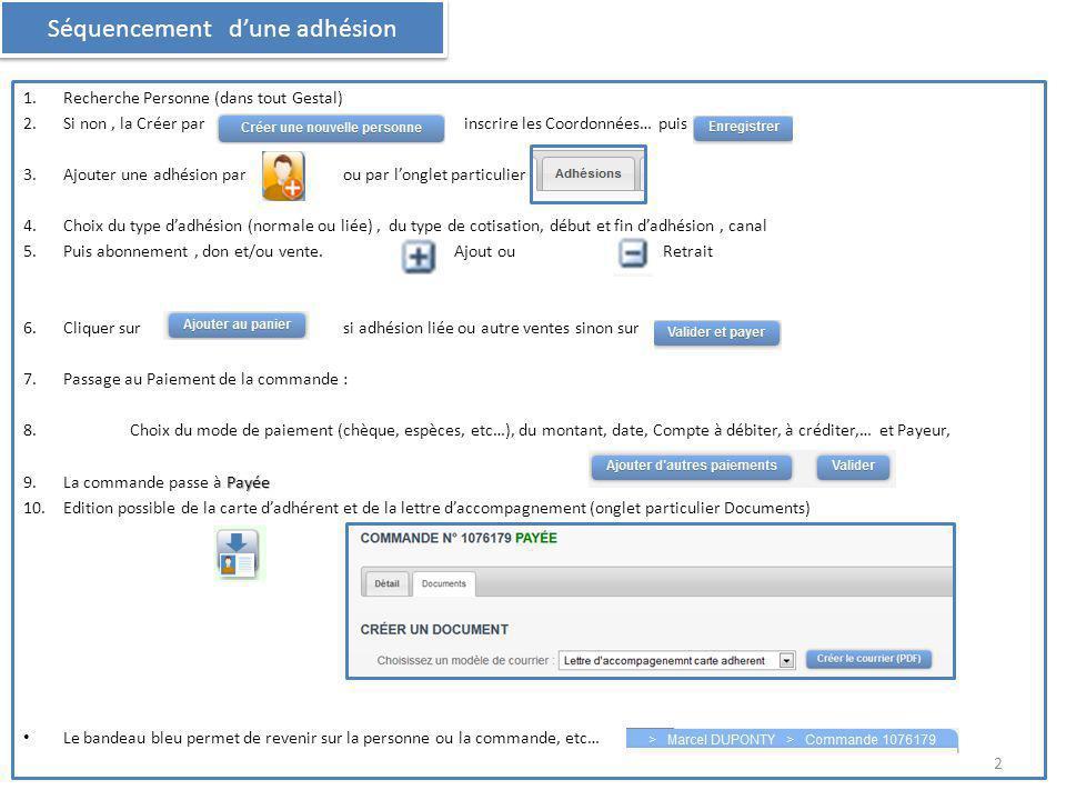 Si relance par Gestal => GESTAL a automatiquement créé un bon de commande correspondant au paiement attendu.