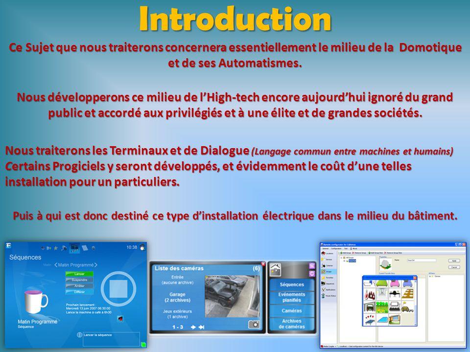 SOMMAIRE Introduction Diap. 03 : Introduction Préambule Diap. 4-5 : Préambule La Domotique Révolutionne votre maison Diap. 06 : La Domotique Révolutio