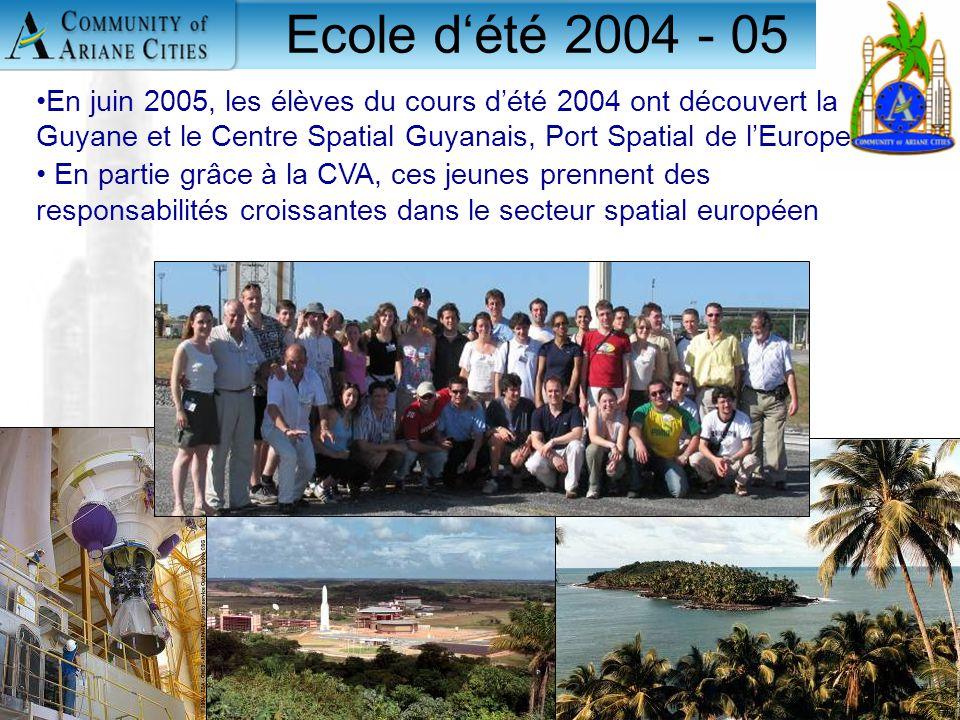 Charleroi, eurocité wallonne 24 mai 2006 11 Ecole d'été 2004 - 05 En juin 2005, les élèves du cours d'été 2004 ont découvert la Guyane et le Centre Sp