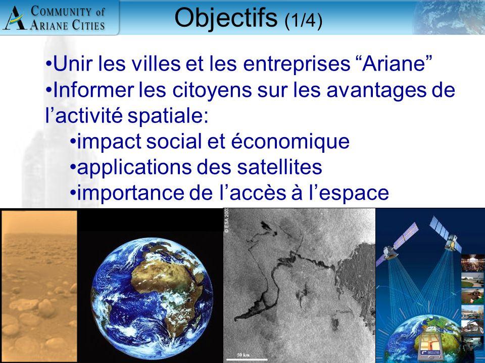 """Charleroi, eurocité wallonne 24 mai 2006 2 Unir les villes et les entreprises """"Ariane"""" Informer les citoyens sur les avantages de l'activité spatiale:"""