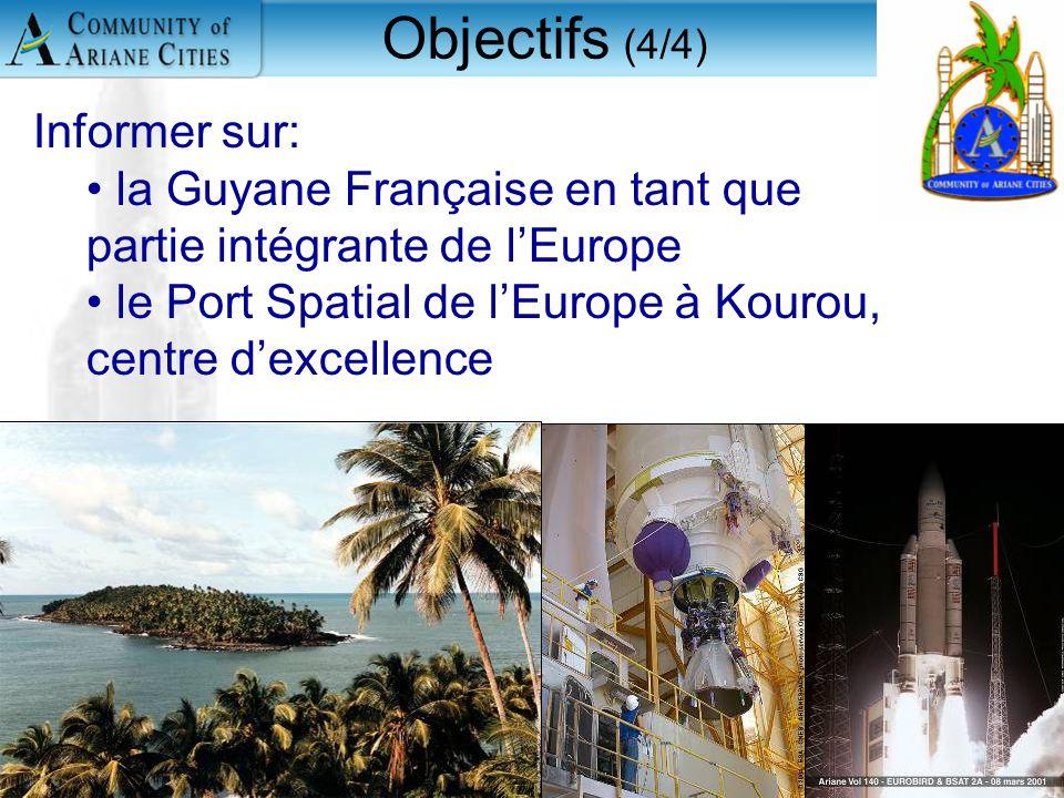 Charleroi, eurocité wallonne 24 mai 2006 5 Informer sur: la Guyane Française en tant que partie intégrante de l'Europe le Port Spatial de l'Europe à K
