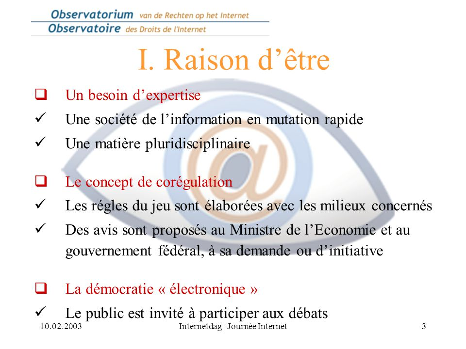 10.02.2003Internetdag Journée Internet4 II.