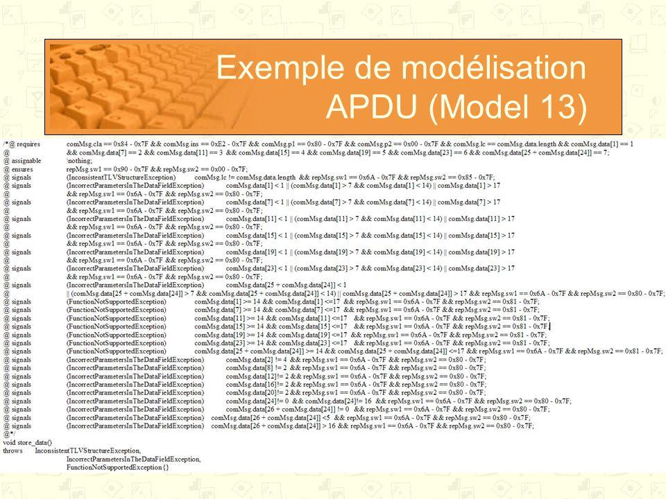 Exemple de modélisation APDU (Model 13)
