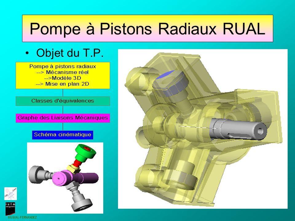 MUSIAL-FERNANDEZ 1 Pompe à Pistons Radiaux RUAL Objet du T.P.