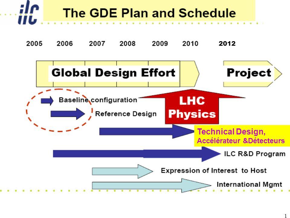 2 Etat avancement ILC Le GDE ( Global Design Effort) Executive Committee ( B.