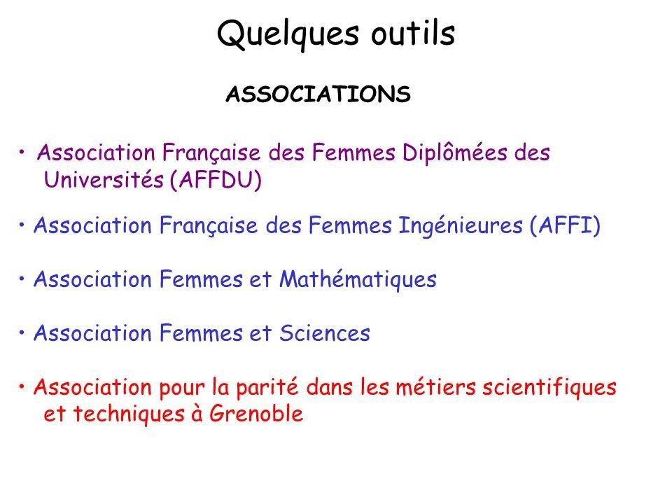 ASSOCIATIONS Association Française des Femmes Diplômées des Universités (AFFDU) Association Française des Femmes Ingénieures (AFFI) Association Femmes
