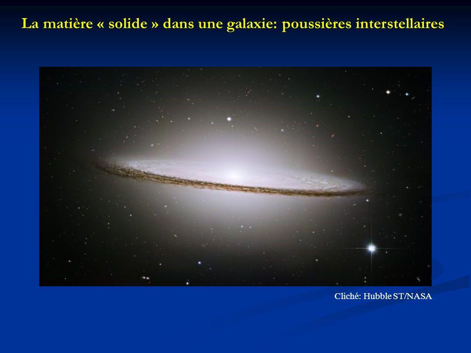 Cliché: Hubble ST/NASA La matière « solide » dans une galaxie: poussières interstellaires