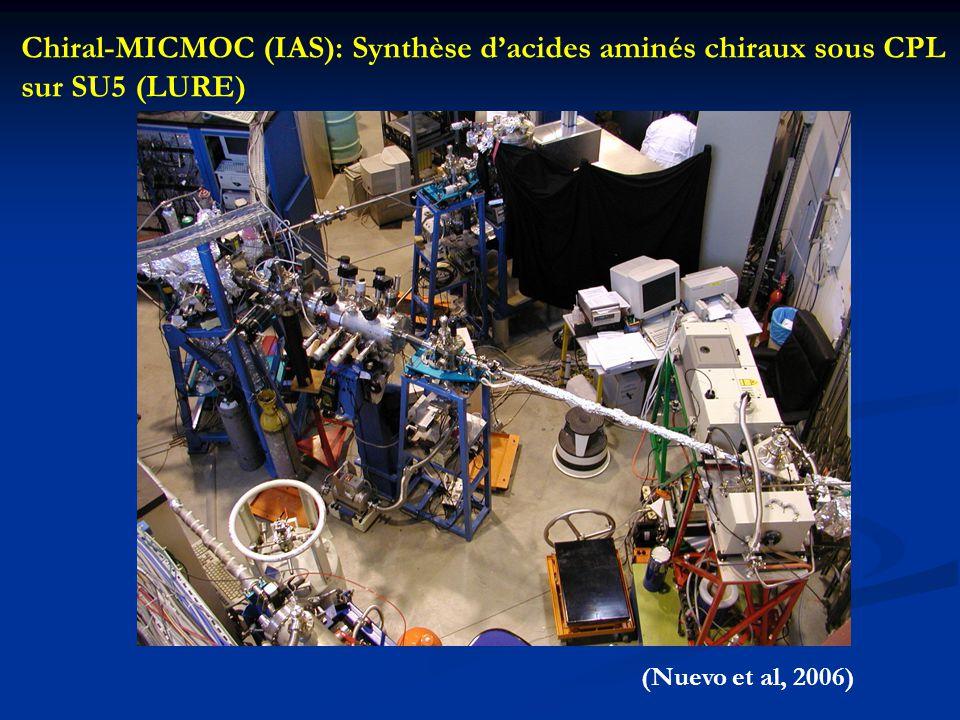 Chiral-MICMOC (IAS): Synthèse d'acides aminés chiraux sous CPL sur SU5 (LURE) (Nuevo et al, 2006)