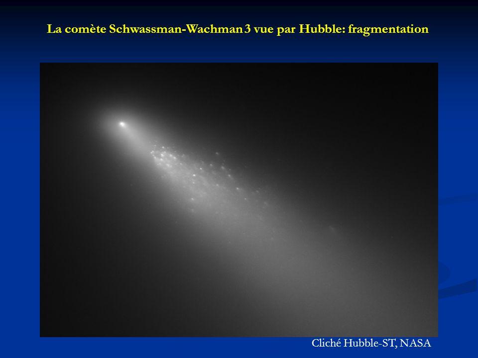 La comète Schwassman-Wachman 3 vue par Hubble: fragmentation Cliché Hubble-ST, NASA