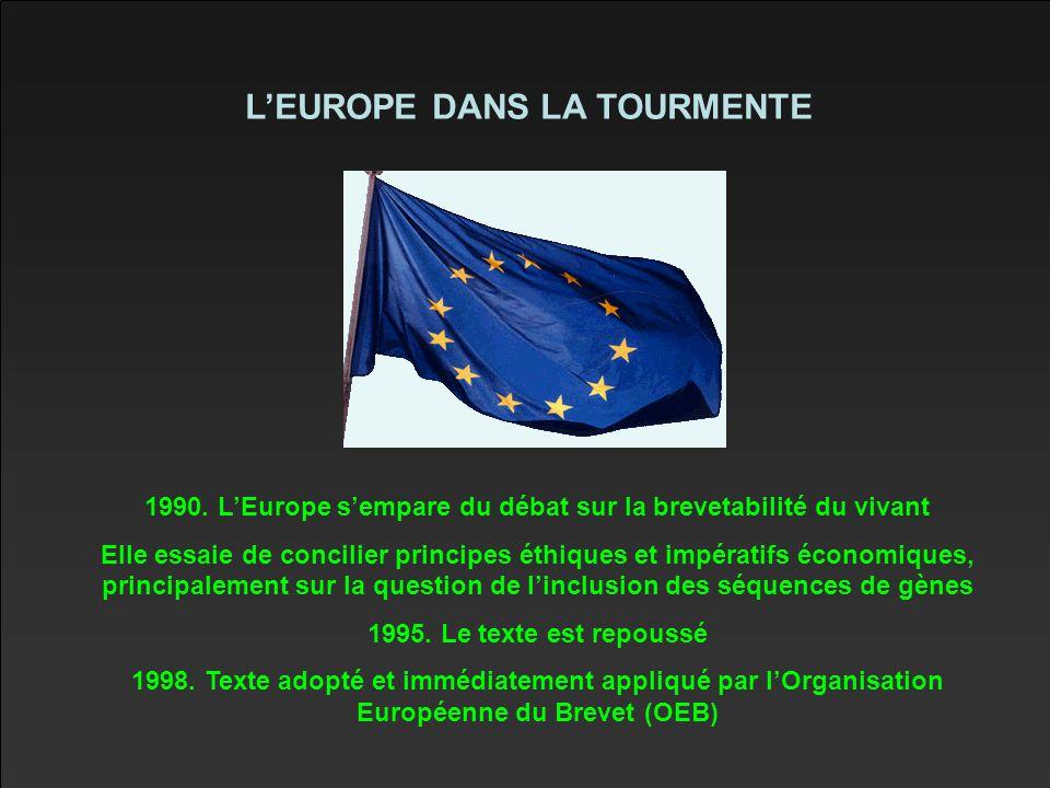 L'EUROPE DANS LA TOURMENTE 1990.