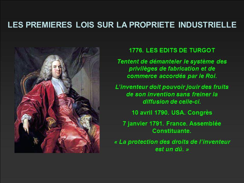 LES PREMIERES LOIS SUR LA PROPRIETE INDUSTRIELLE 1776.
