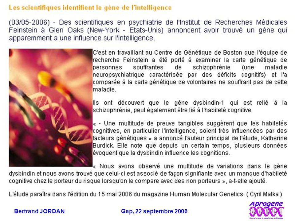 Bertrand JORDAN Gap, 22 septembre 2006