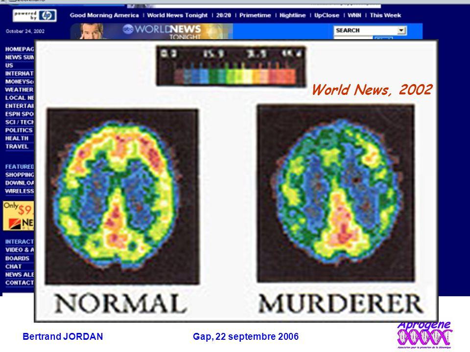 Bertrand JORDAN Gap, 22 septembre 2006 Du gène à l'ARN messager et à la protéine