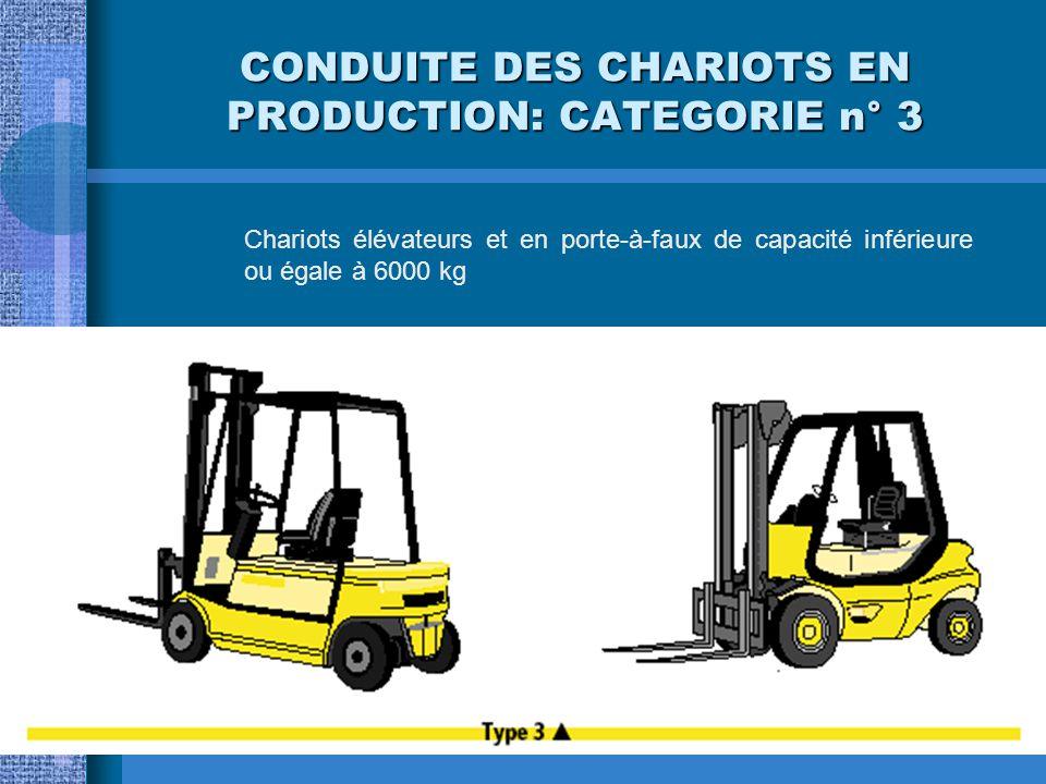 CONDUITE DES CHARIOTS EN PRODUCTION: CATEGORIE n° 2 Chariots tracteurs et à plateau porteur de capacité inférieure à 6000 kg