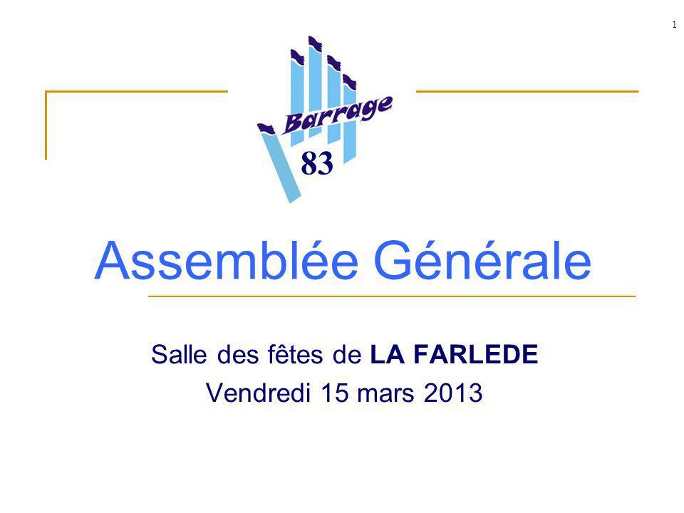 1 Assemblée Générale Salle des fêtes de LA FARLEDE Vendredi 15 mars 2013 83