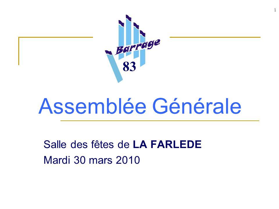 1 Assemblée Générale Salle des fêtes de LA FARLEDE Mardi 30 mars 2010 83