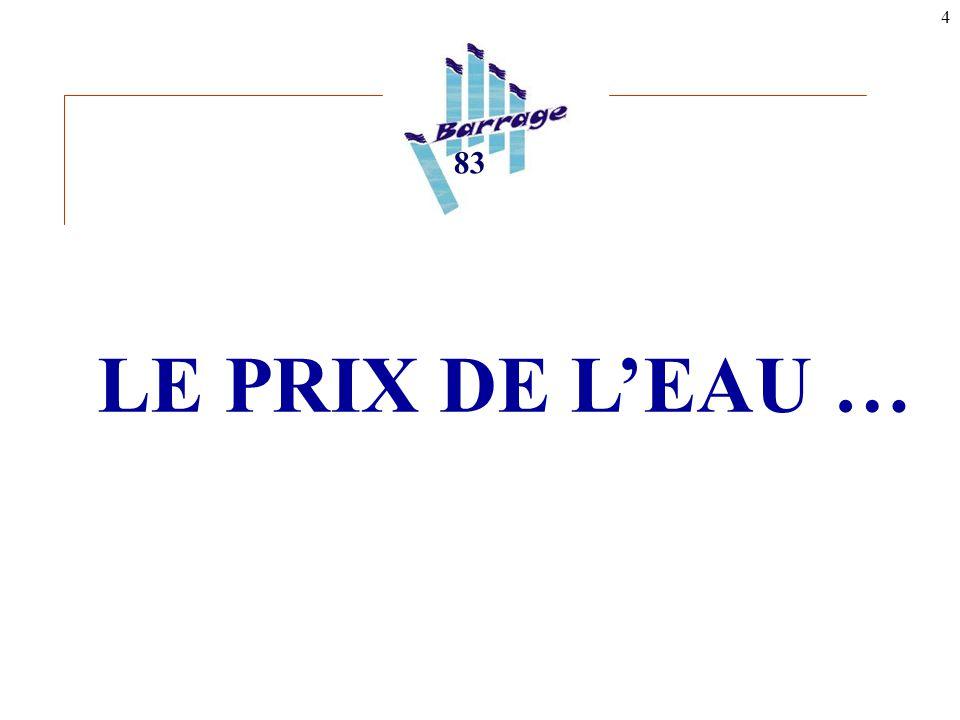 4 LE PRIX DE L'EAU … 83