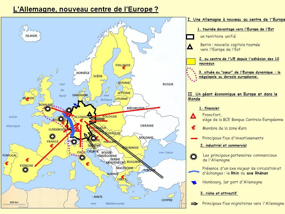 L Allemagne, nouveau centre de l Europe ? Autre exemple de carte