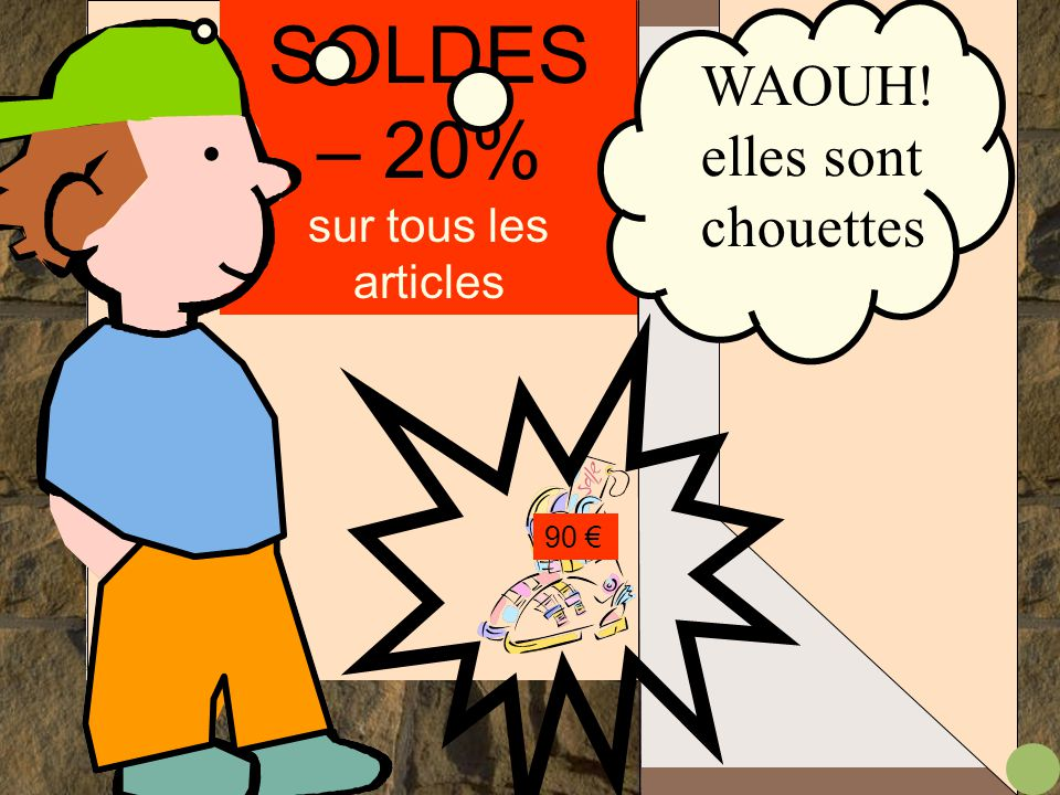 SOLDES – 20% sur tous les articles 45 € 90 € 62 €..
