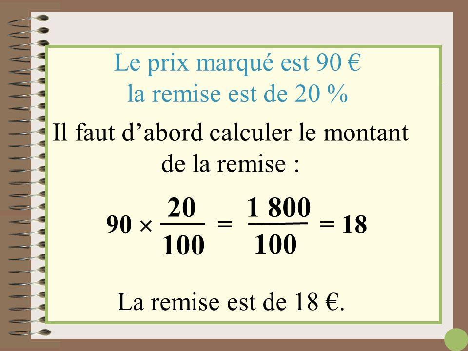 SOLDES – 20% sur tous les articles 90 €.... – 20% il faut que je me souvienne de ce que m'a appris ma super prof de maths !