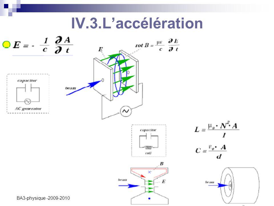 C. Vander Velde8 BA3-physique -2009-2010 IV.3.L'accélération