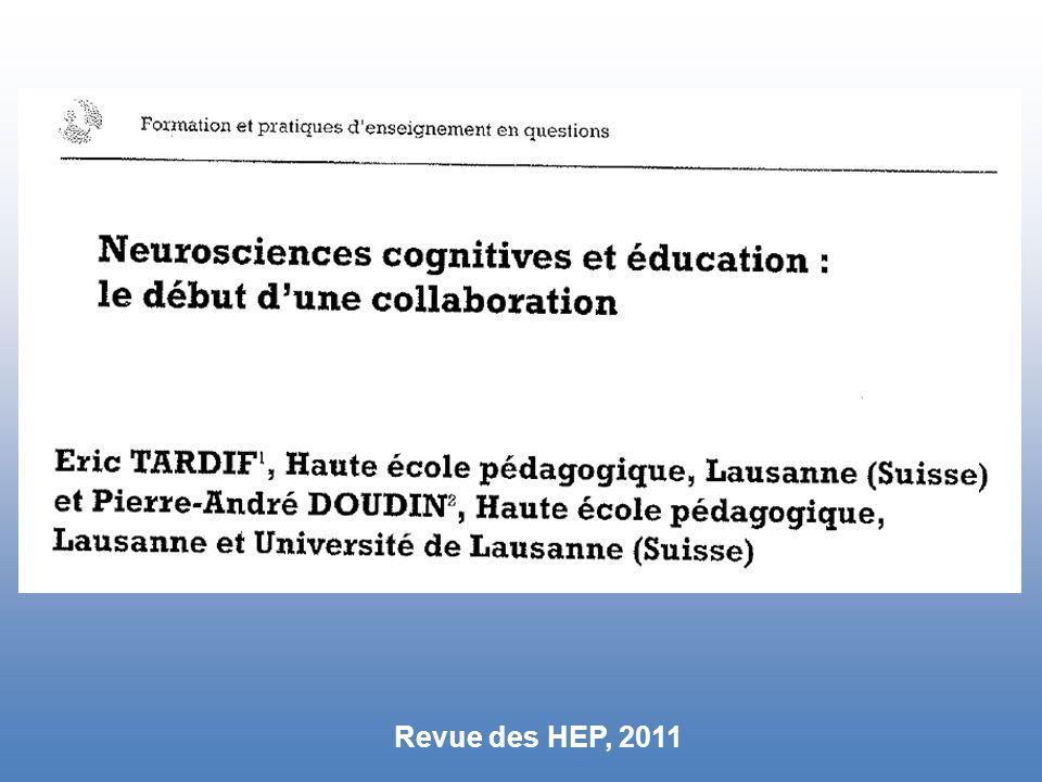 Revue des HEP, 2011