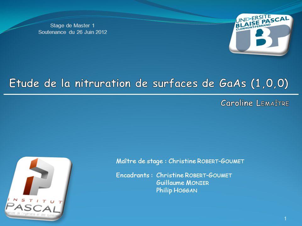 Maître de stage : Christine R OBERT -G OUMET Encadrants :Christine R OBERT -G OUMET Guillaume M ONIER Philip H OGGAN Stage de Master 1 Soutenance du 2