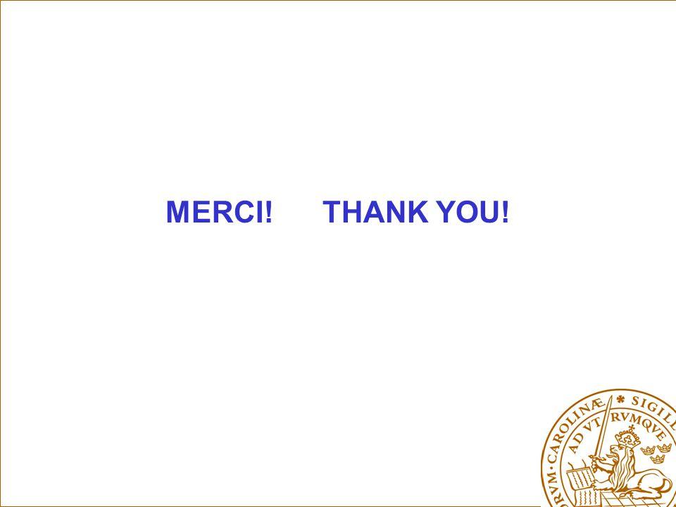MERCI! THANK YOU!