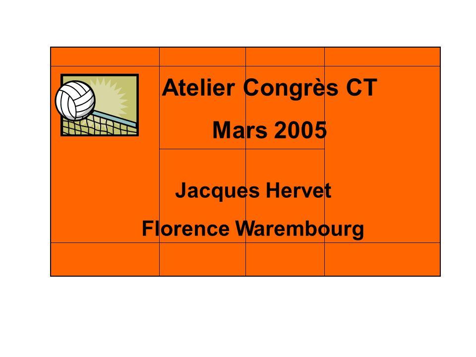 Atelier Congrès CT Mars 2005 Jacques Hervet Florence Warembourg Atelier Congrès CT Mars 2005 Jacques Hervet Florence Warembourg
