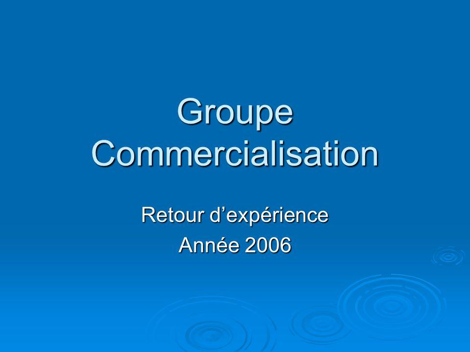 Groupe Commercialisation Retour d'expérience Année 2006