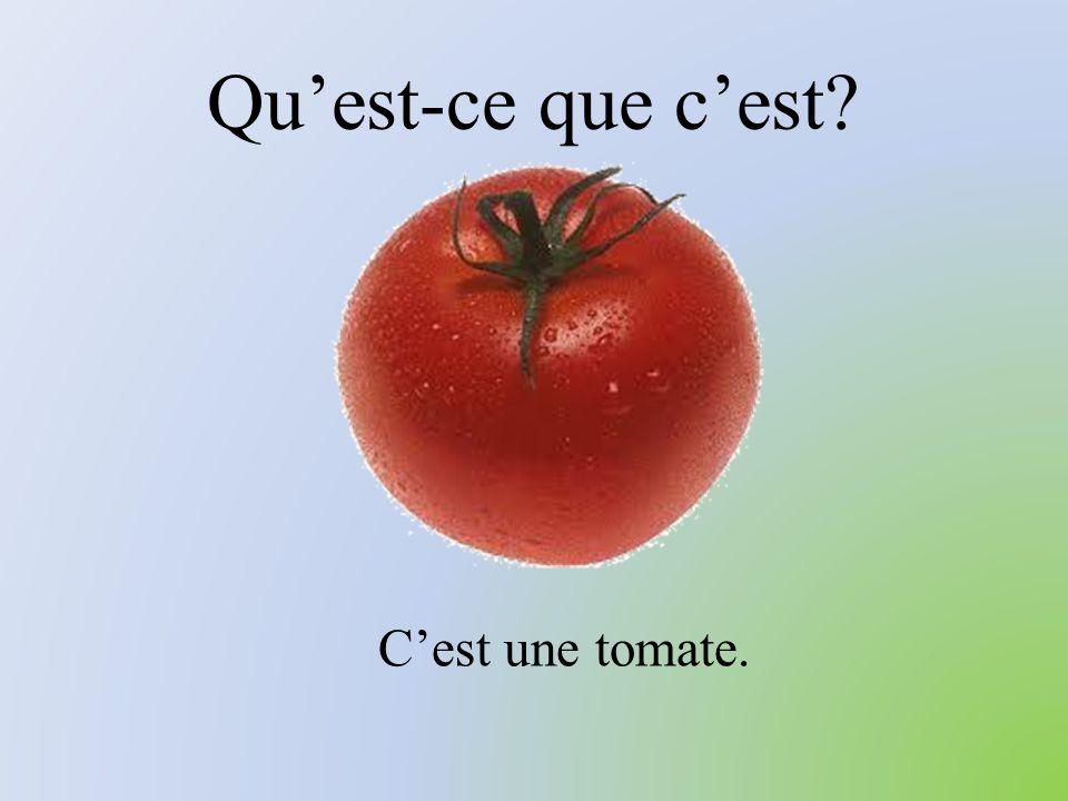 Qu'est-ce que c'est? C'est une tomate.