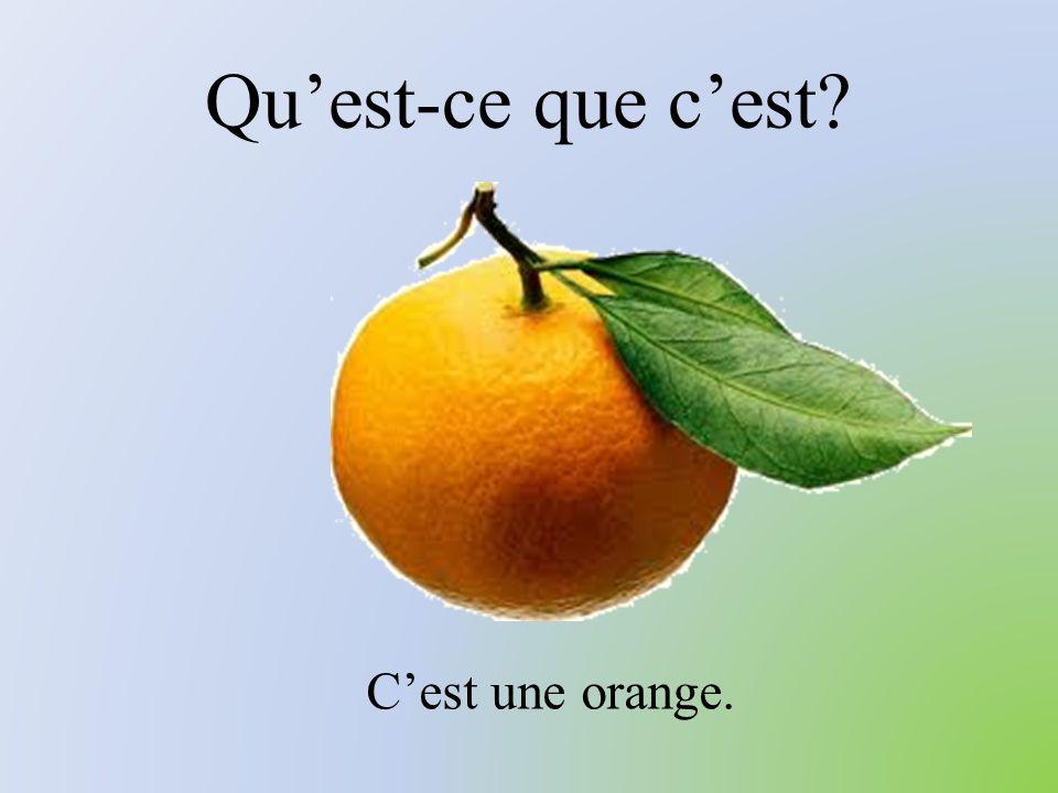 Qu'est-ce que c'est? C'est une orange.