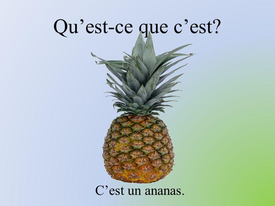 Qu'est-ce que c'est? C'est un ananas.