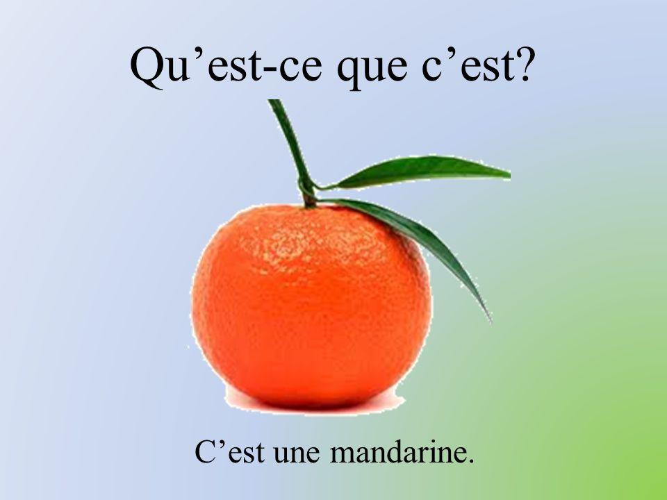 Qu'est-ce que c'est? C'est une mandarine.
