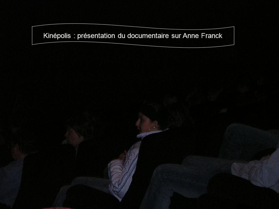 Kinépolis : présentation du documentaire sur Anne Franck