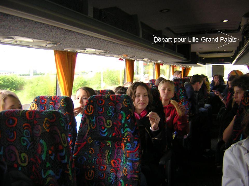 Départ pour Lille Grand Palais