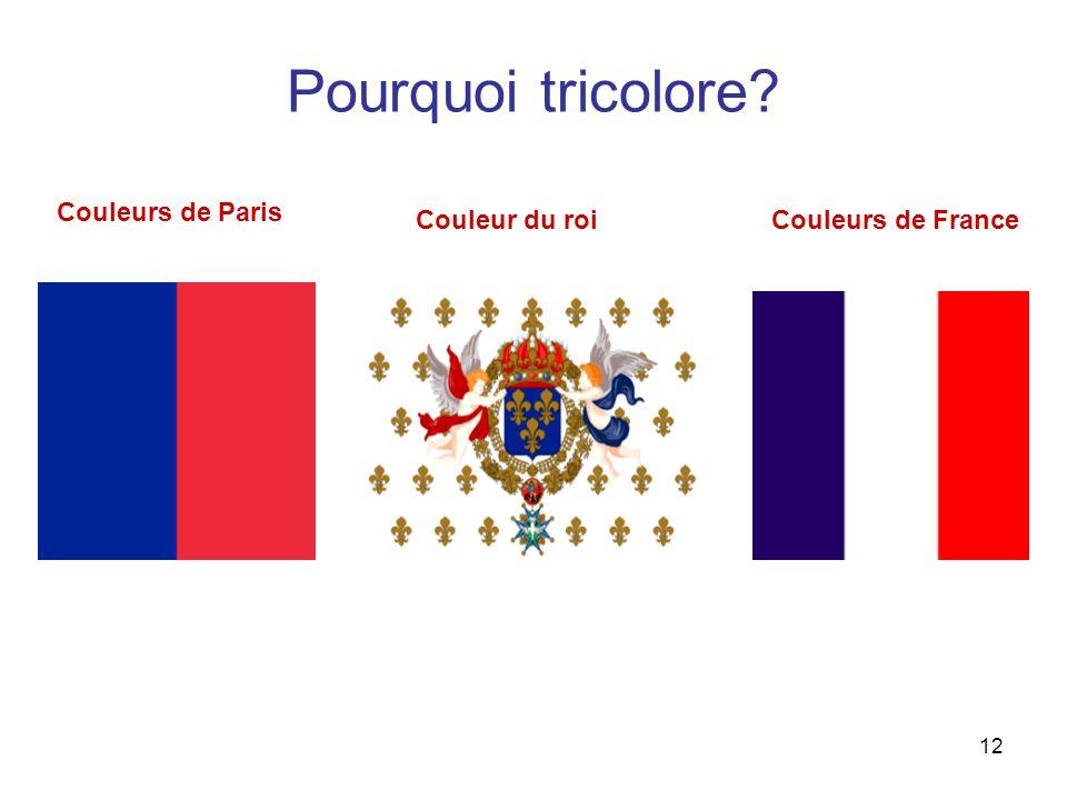 12 Pourquoi tricolore Couleurs de Paris Couleurs de France Couleur du roi