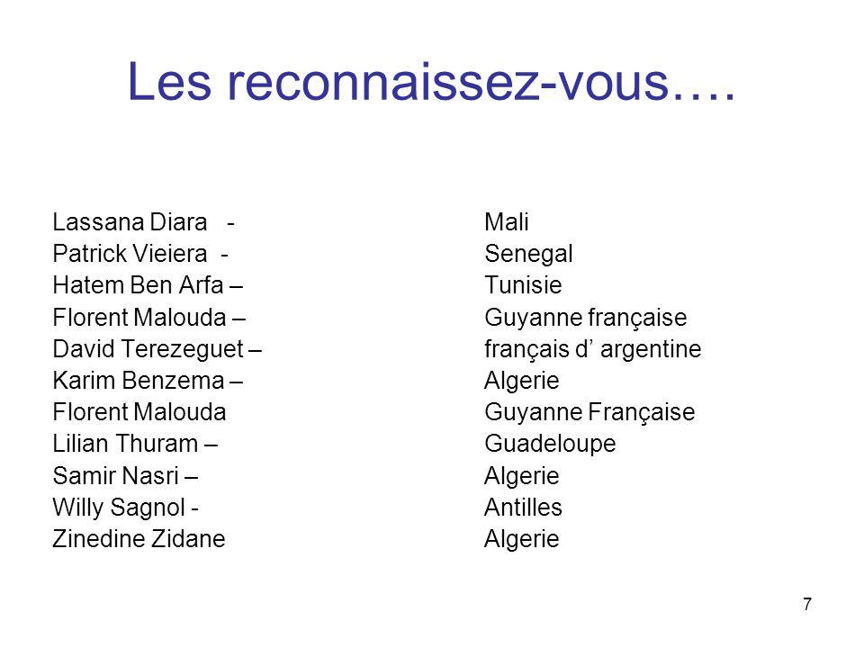 7 Les reconnaissez-vous….