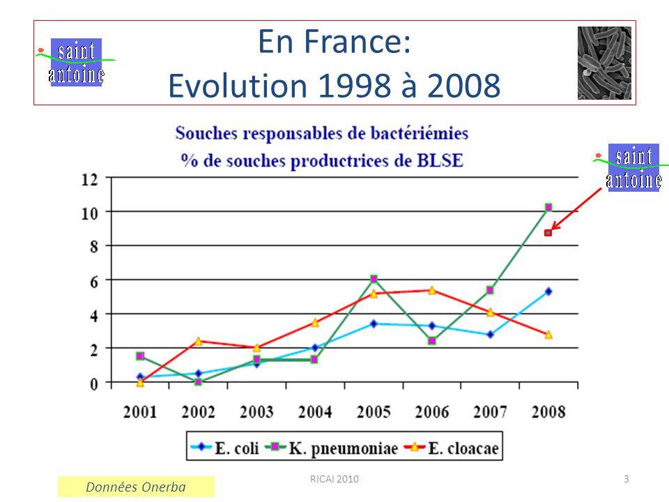 3 En France: Evolution 1998 à 2008 Données Onerba