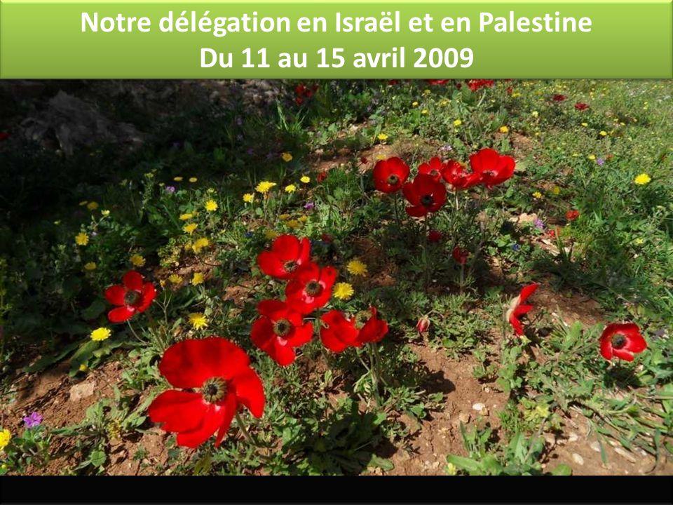 Notre délégation en Israël et en Palestine Du 11 au 15 avril 2009