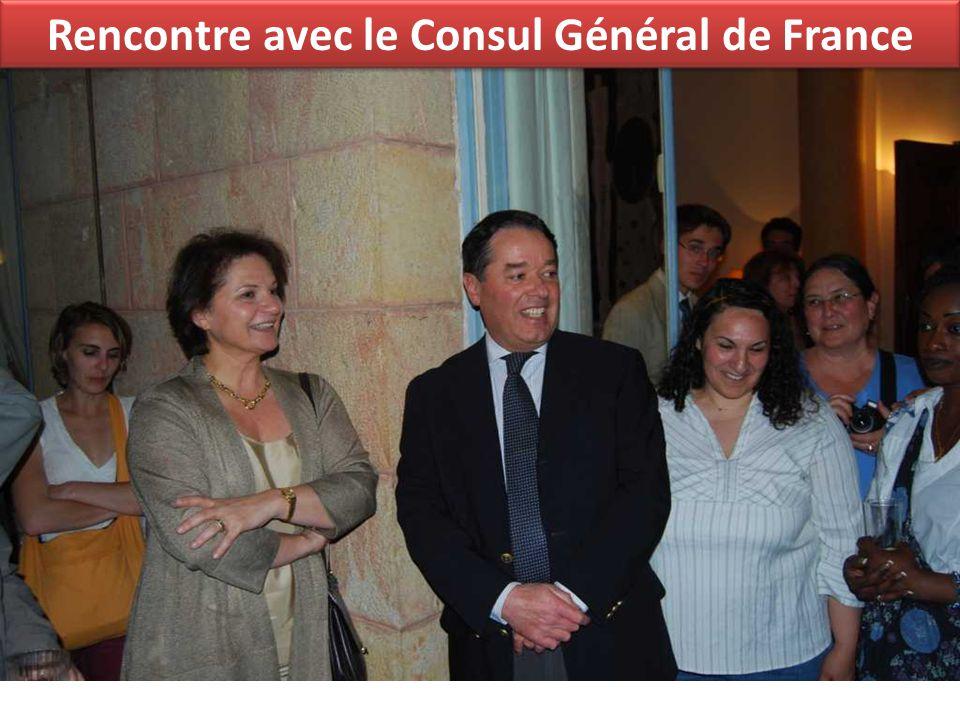 Rencontre avec le Consul Général de France