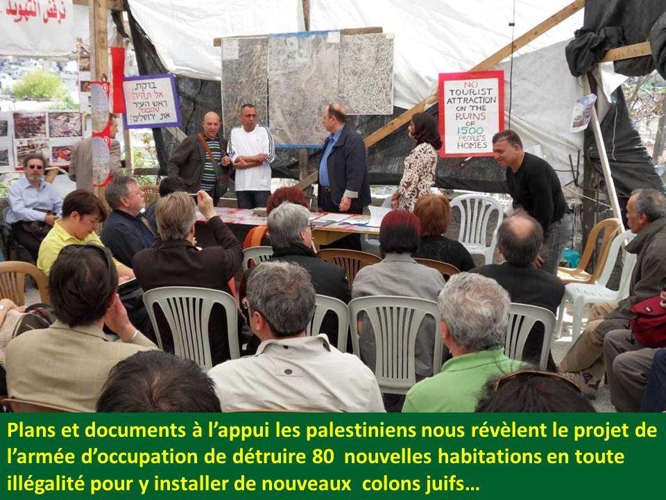 Plans et documents à l'appui les palestiniens nous révèlent le projet de l'armée d'occupation de détruire 80 nouvelles habitations en toute illégalité pour y installer de nouveaux colons juifs…