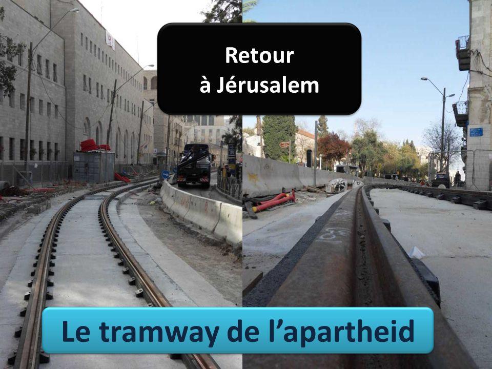 Le tramway de l'apartheid Retour à Jérusalem