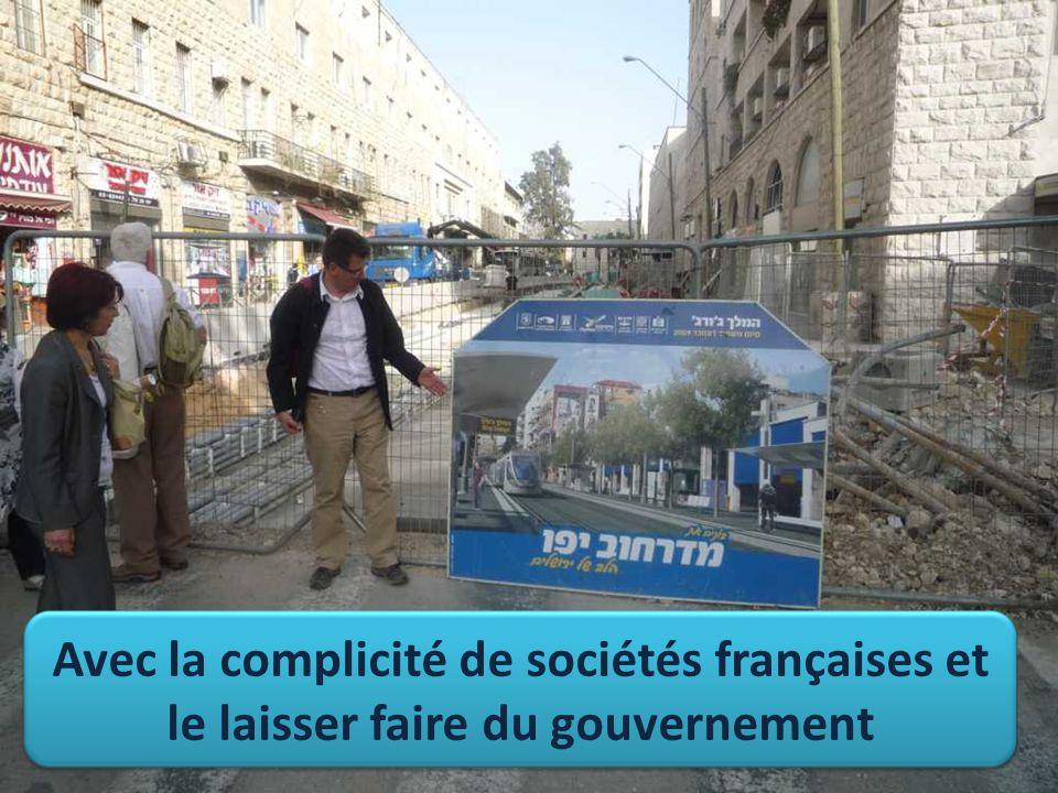 Avec la complicité de sociétés françaises et le laisser faire du gouvernement