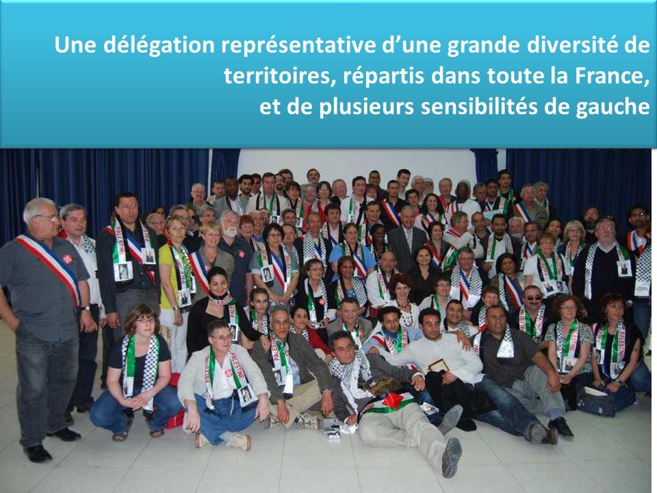 Une délégation représentative d'une grande diversité de territoires, répartis dans toute la France, et de plusieurs sensibilités de gauche